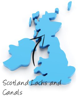 Scotland Lochs and Canals on map